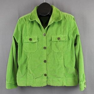 Fresh Produce Stretch Corduroy Jacket Medium Green